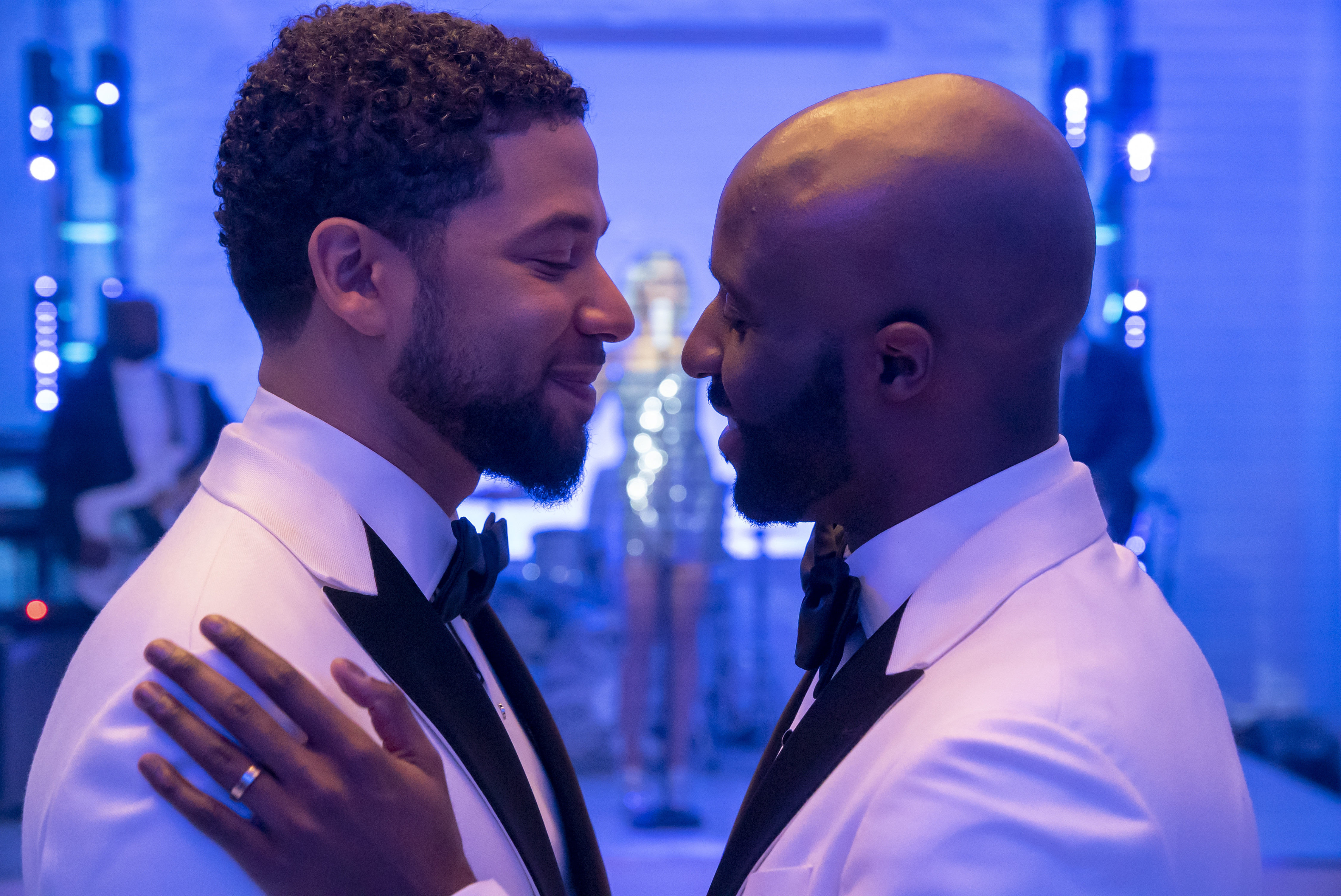 A moving moment in Jussie Smollett's troubled year