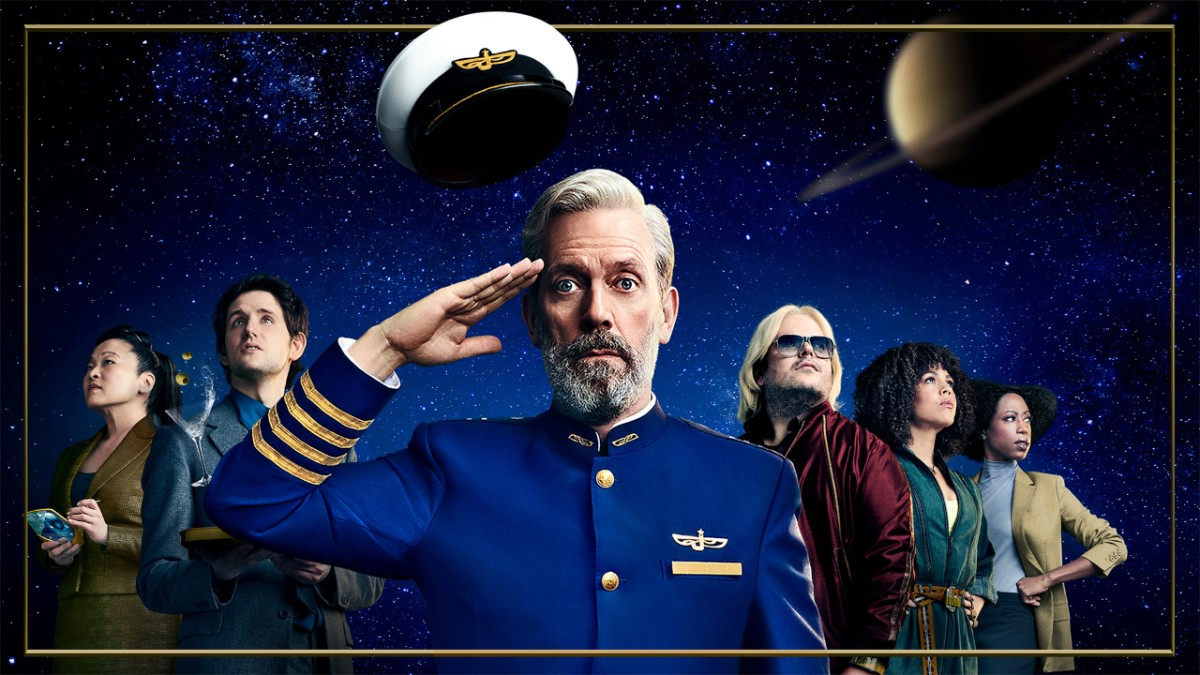 Laurie's out in space and back in comedy