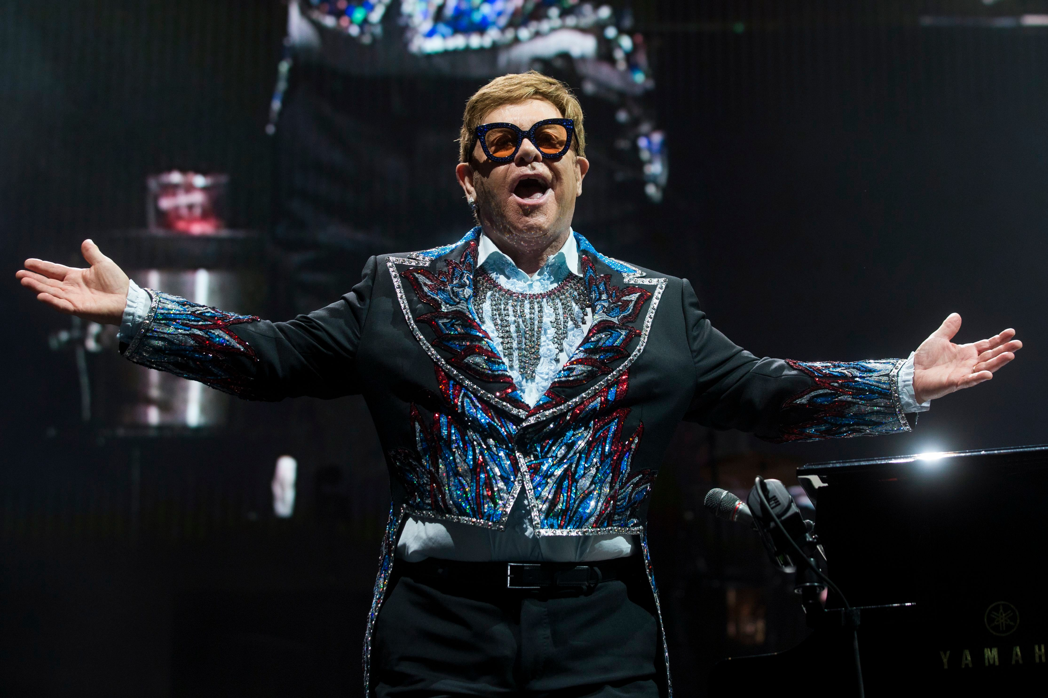 Elton hosts a music-from-home special Sunday
